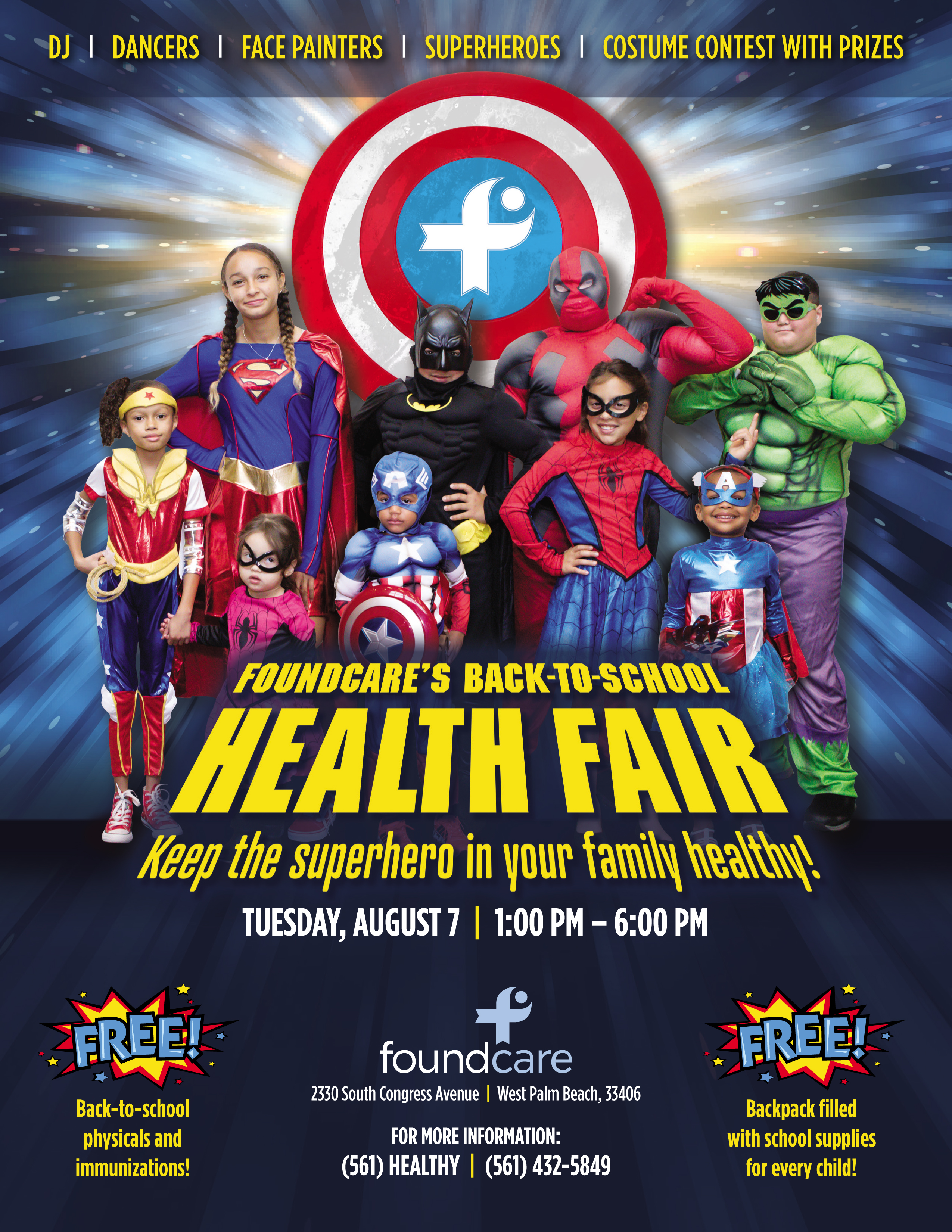 FoundCare's Back-To-School Health Fair