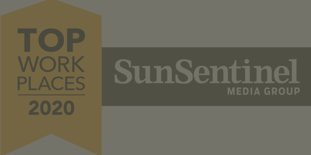 THE SUN SENTINEL NAMES FOUNDCARE, INC. A WINNER OF THE SOUTH FLORIDA TOP WORKPLACES 2020 AWARD